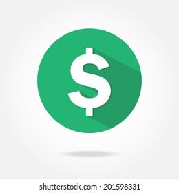 Flat dollar icon.
