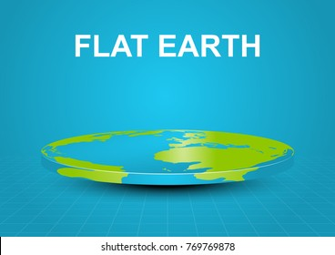Flat earth vector object