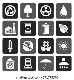 Flat Ecology and nature icons -vector icon set