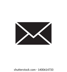 flat envelope glyph icon symbol sign, vector, eps 10