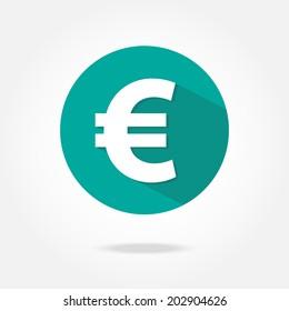 Flat euro icon.