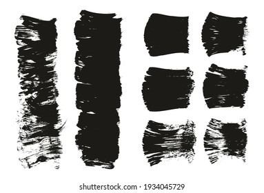 Flat Fan Brush Thick Short Background And Straight Lines Mix High Detail Abstract Vector Background Mix Set