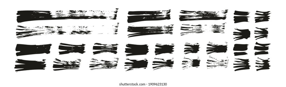 Flat Fan Brush Thin Straight Lines High Detail Abstract Vector Background Set