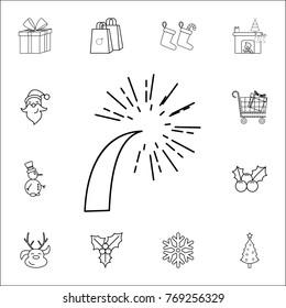 royalty free stock illustration of flat firework icon set christmas Firework Stars Diagram flat a firework icon set of christmas and new year icons signs outline