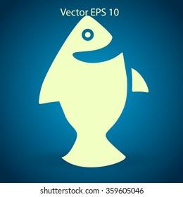 Flat fish icon.