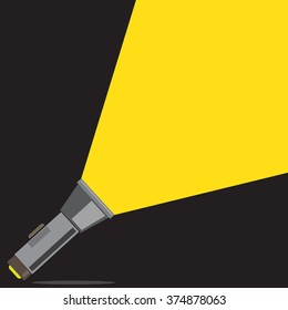 flat flashlight with yellow light