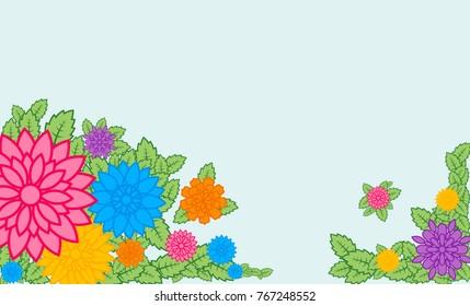 flat floral banner