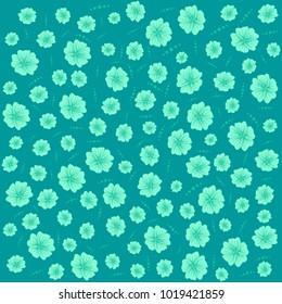 flat floral pattern