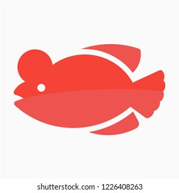 Flat Flowerhorn vector icon