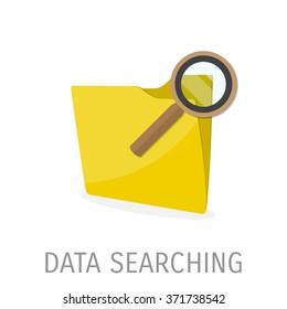 Flat folder icon - Computing - Data and information