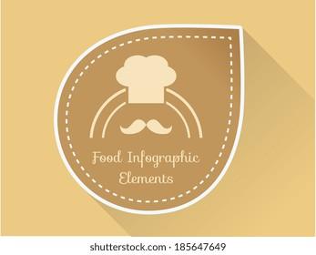 Flat Food Illustration. Vector Illustration EPS 10.