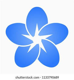 flat Forget me not flower pixel perfect vector icon
