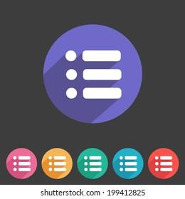 Flat game graphics icon menu