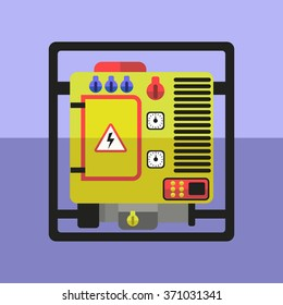 Flat generator vector illustration, Isolated, easy to recolor.