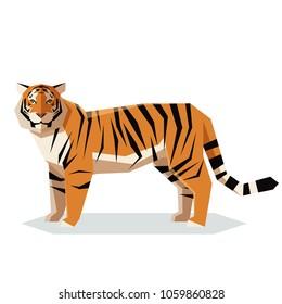 Flat geometric Tiger