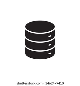 flat glyph data, server, database, web storage icon symbol sign, logo template, vector, eps 10