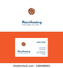 Flat Golfball  Logo and Visiting Card Template. Busienss Concept Logo Design