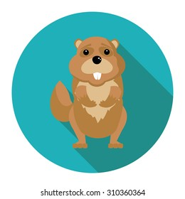 flat gopher icon