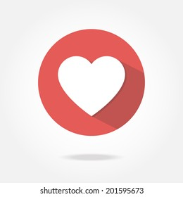 Flat heart icon.