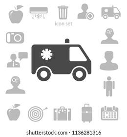 Flat  icon of ambulance vector illustration