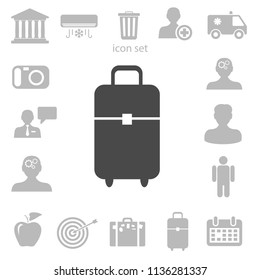 Flat icon of bag vector illustration