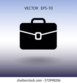Flat icon of briefcase. vector illustration