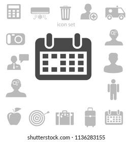 Flat icon of calendar. vector illustration