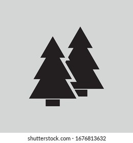 flat icon christmas trees vector .