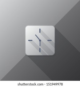 flat icon clock design