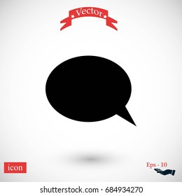 Flat icon of a communication, flat design best vector icon