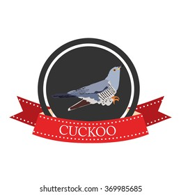 flat icon cuckoo in vector format eps10