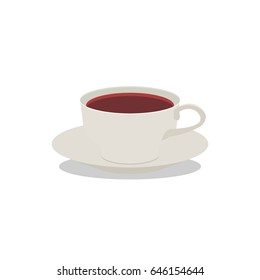 Flat Icon Cup of tea. Isolated on white background. Modern vector illustration for web and mobile.