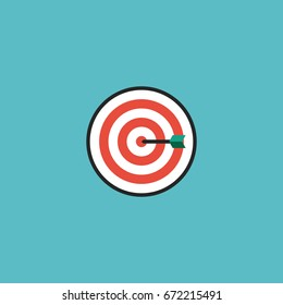 Flat Icon Darts Element. Vector Illustration Of Flat Icon Arrow  Isolated On Clean Background. Can Be Used As Darts, Arrow And Game Symbols.
