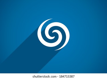 Flat icon design element. Abstract logo idea for business company.  Eco, green, water, spiral, cosmetics and medical concepts.  Pictogram for corporate identity template. Stock Illustration (Vector)