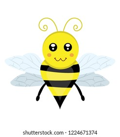 A flat icon design of insect depicting honeybee