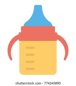 Flat icon design of a sippy cup