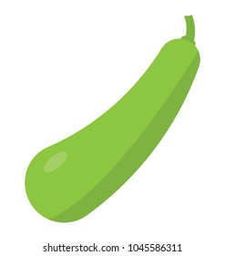 Flat icon design of a vegetable, bottle gourd