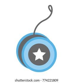 Flat icon design of yoyo