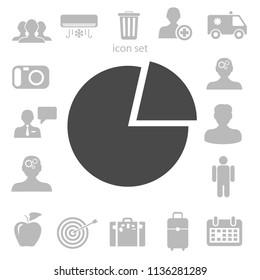 Flat icon of finance graph. vector illustration