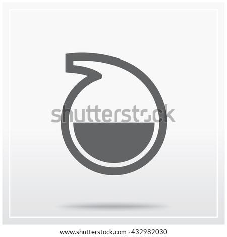 Flat Icon Graphical Symbol Laboratory Glassware Stock Vector