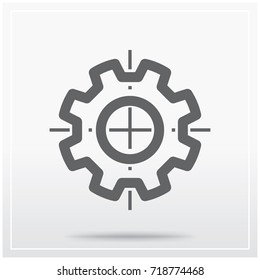 Flat icon of graphical symbol of technical specifications or designing. Vector illustration