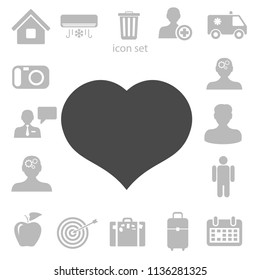 Flat icon of heart. vector illustration