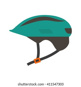 Flat Icon helmet isolated on white background. Vector illustration