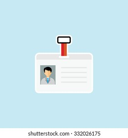 Flat Icon Of Identity Card. Eps.-10.