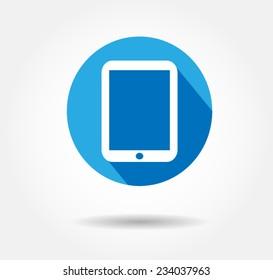 Flat icon ipad . button iPad, logo iPad Pro vector illustration eps10jpg,jpeg background