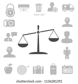 Flat  icon of Justice. vector illustration