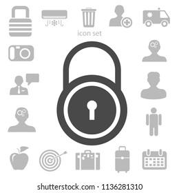 Flat icon of lock. vector illustration