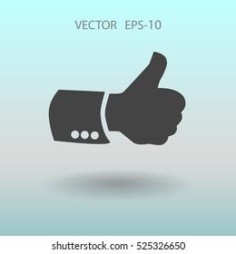 Flat icon of ok. vector illustration