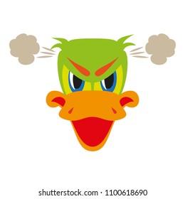 flat icon on theme animal evil duck