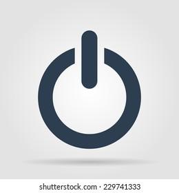 Flat icon of power. Vector Illustrator EPS